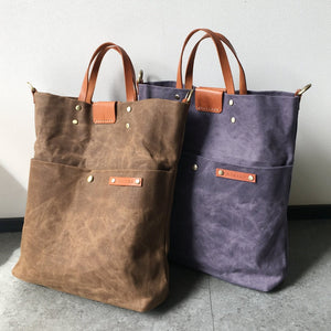 Waxed Canvas Tall Tote & Sling