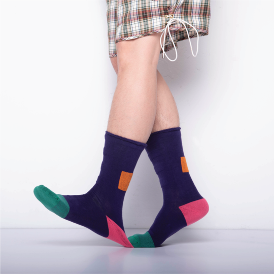 GOODPAIR SOCKS: My Inner Beauty - Minda / Purple Pennant & Bistro Green