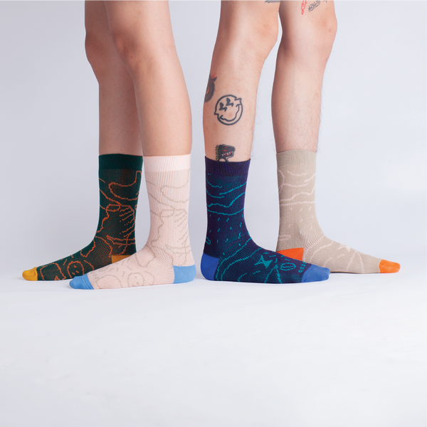 GOODPAIR SOCKS X LUNABAR | Luna Islands Series: Khaki