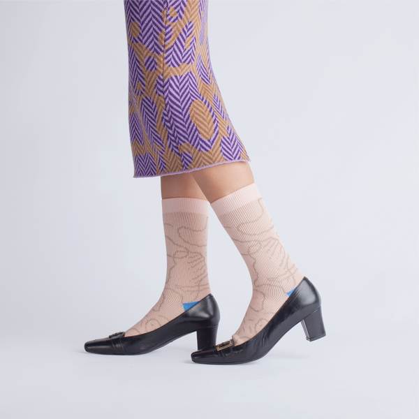 GOODPAIR SOCKS X LUNABAR | Luna Islands Series: Beige