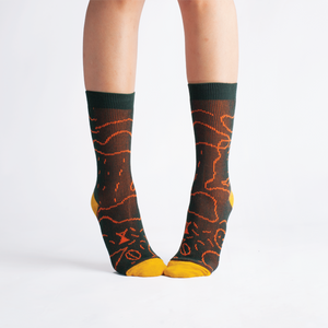 GOODPAIR SOCKS X LUNABAR | Luna Islands Series: Bistro Green Socks