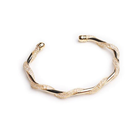 Tia Crystal Gold Cuff
