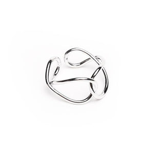 Tyra Twist Silver Ring