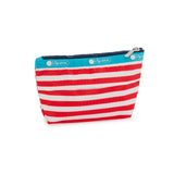 Small Sloan Cosmetic Pouch - Shorey Stripe Red | LeSportsac