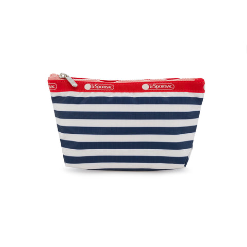 Small Sloan Cosmetic Pouch - Shorey Stripe Navy | LeSportsac