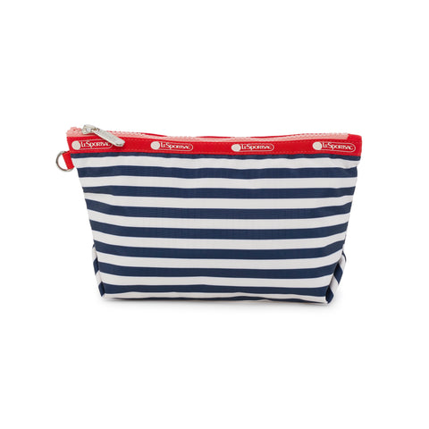 Medium Sloan Cosmetic Pouch - Shorey Stripe Navy | LeSportsac