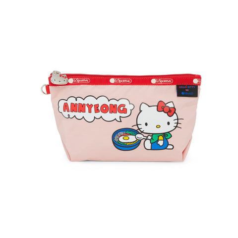 Medium Sloan Cosmetic pouch - Annyeong Hello Kitty | LeSportsac