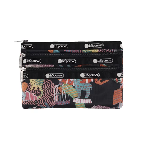 3-Zip Cosmetic - Midnight Menagerie | LeSportsac Malaysia