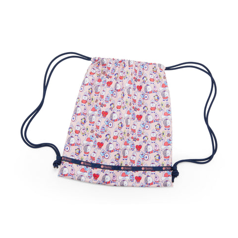 Drawstring Backpack - BT21 Multi | LeSportsac Malaysia
