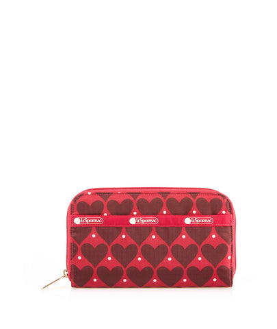 Lily Wallet - House of Hearts Red | LeSportsac