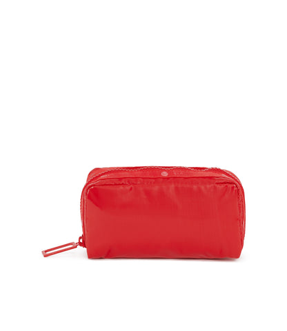 Rectangular Cosmetic Pouch - Fiery Red Liquid Patent
