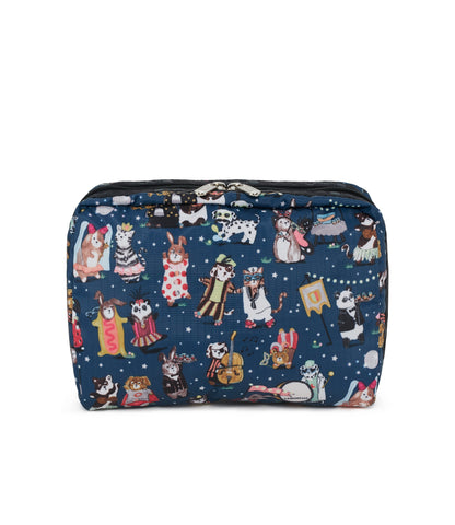 XL Rectangular Cosmetic Pouch - Midnight Masquerade