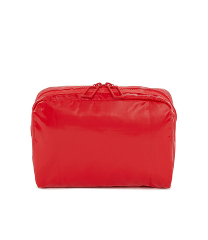 XL Rectangular Cosmetic Pouch - Fiery Red LP