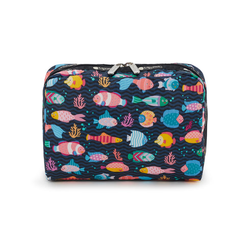 XL Rectangular Cosmetic pouch - Pop Fish - LeSportsac