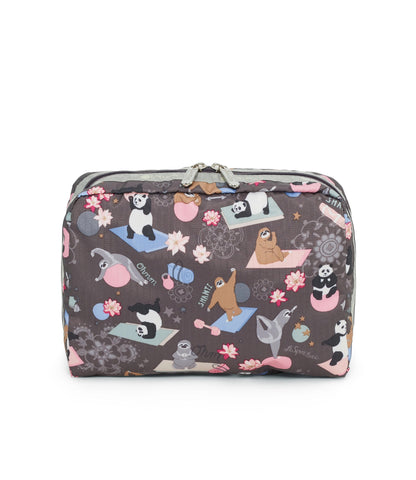 XL Rectangular Cosmetic pouch - Yoga Pets | LeSportsac