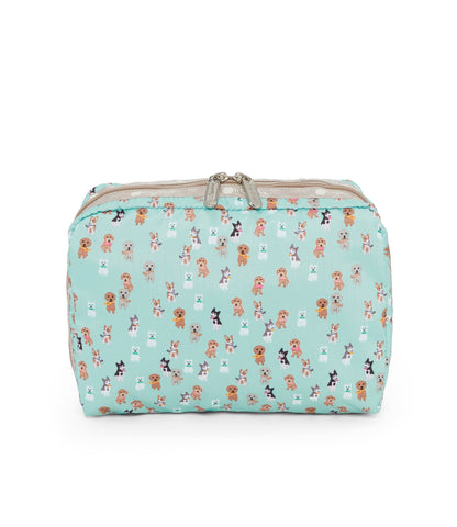 XL Rectangular Cosmetic pouch - Party Pups | LeSportsac Malaysia