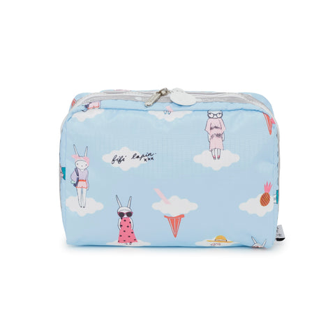 XL Rectnagular Cosmetic Pouch - Day Dreaming | Fifi Lapin x LeSportsac