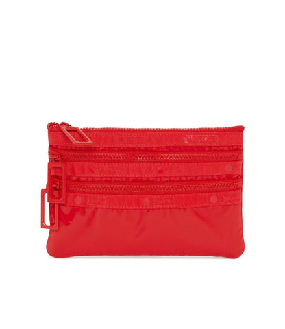 3-Zip Cosmetic Pouch - Fiery Red LP