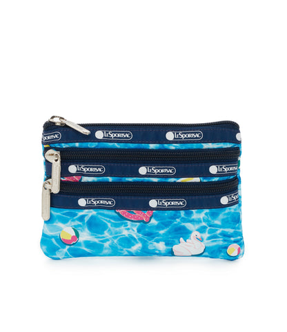 3-Zip Cosmetic Pouch - Pool Party - LeSportsac