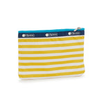 3-Zip Cosmetic Pouch - Shorey Stripe Yellow | LeSportsac