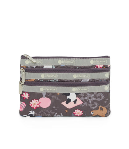 3-Zip Cosmetic Pouch - Yoga Pets | LeSportsac