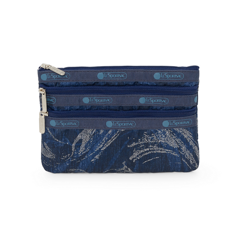 3-Zip Cosmetic Pouch - Celestial Denim | LeSportsac