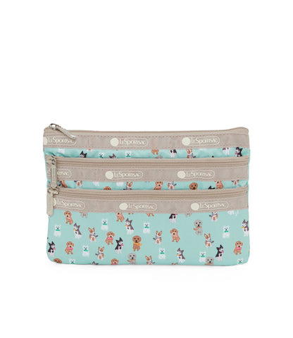 3-Zip Cosmetic pouch - Party Pups | LeSportsac Malaysia