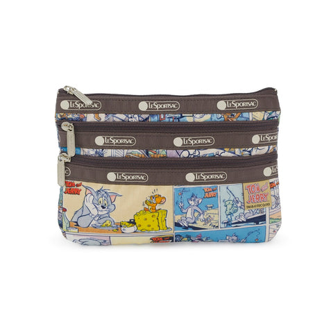 3-Zip Cosmetic Pouch - Tom and Jerry Comic