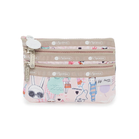 Special 3-Zip Cosmetic Pouch - Fifi Pool Party | Fifi Lapin x LeSportsac