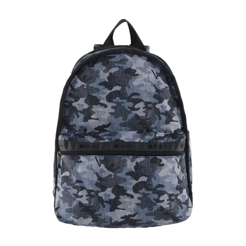 Basic Backpack - Camo Canvas Indigo | LeSportsac Malaysia