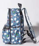 Basic Backpack in Moomin & Friends, Side view - LeSportsac Malaysia