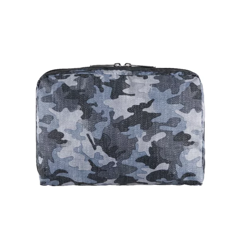 XL Rectangular Cosmetic - Camo Canvas Indigo | LeSportsac Malaysia