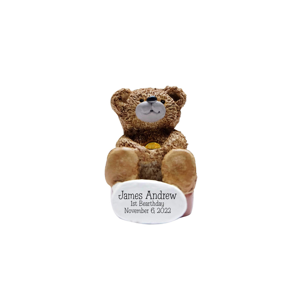 Personalized Bear Birthstone