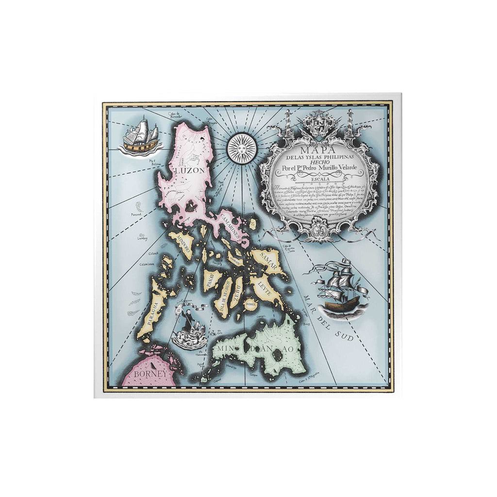 Vintage Philippine Map Decoposter
