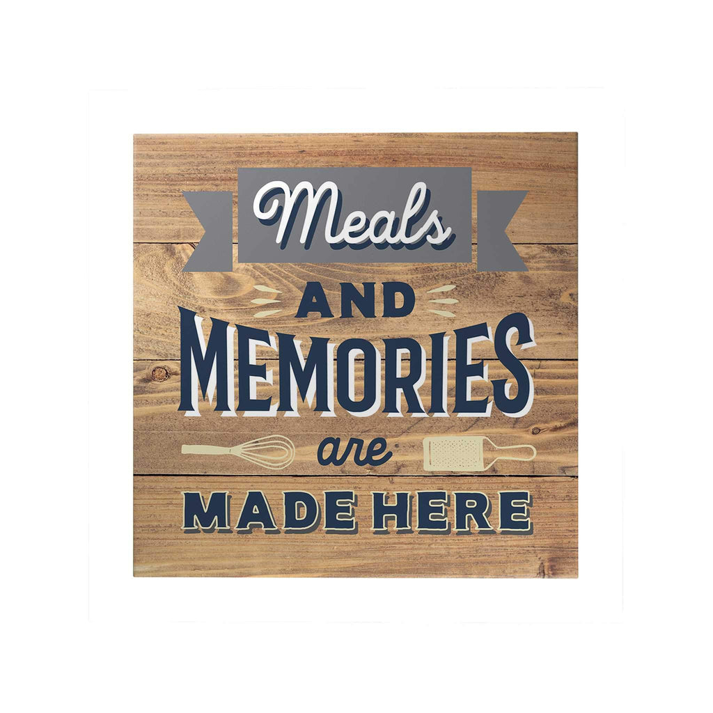 Happy Home Decoposter: Meals and Memories