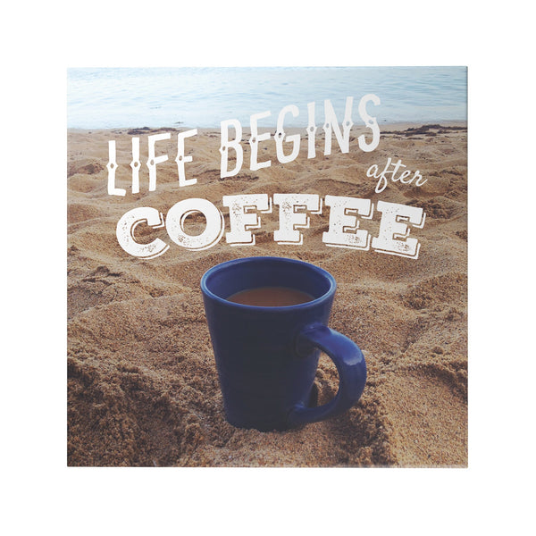 Life Begins After Coffee Decoposter