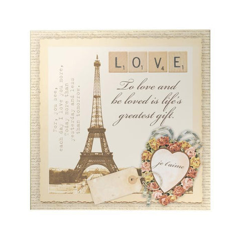 Eiffel Decoposter: Love Heart