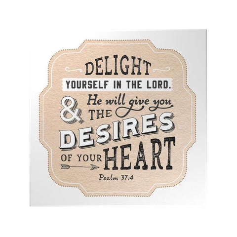 Delight Yourself in the Lord Decoposter