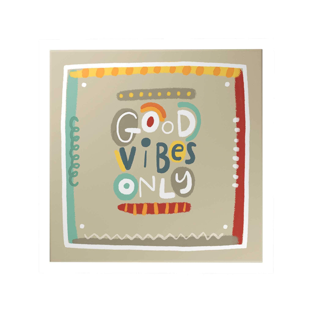Affirmation Decoposter: Good Vibes Only Decoposter