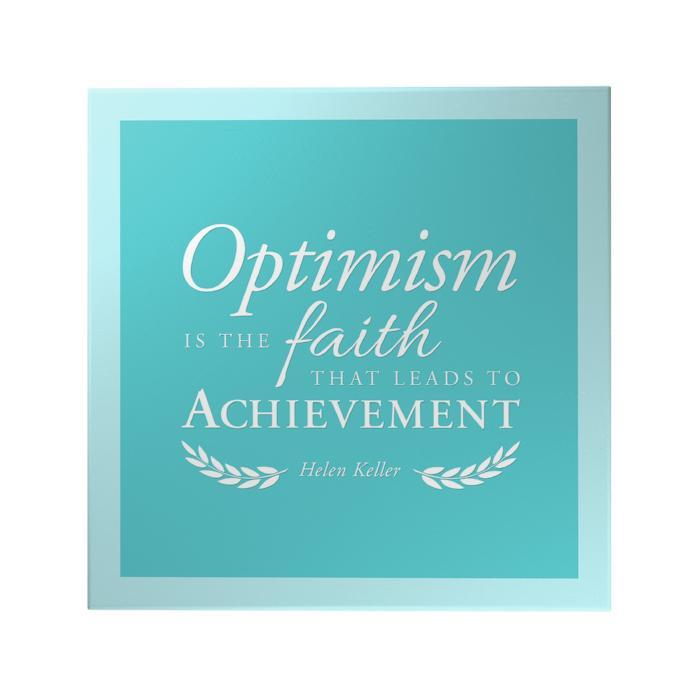 Optimism is the Faith Decoposter