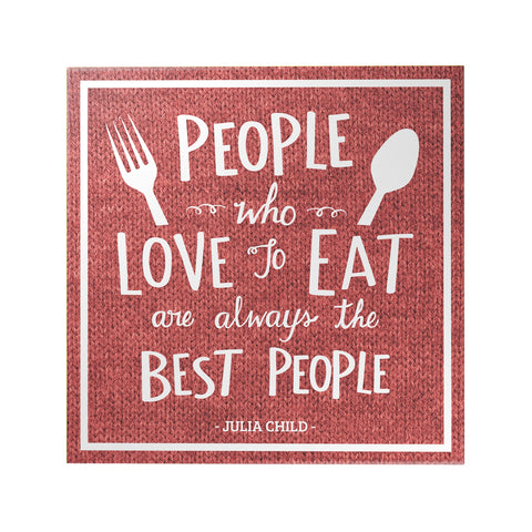 People Who Love to Eat Decoposter