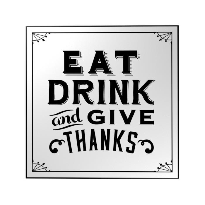 Eat Drink and Give Thanks Decoposter