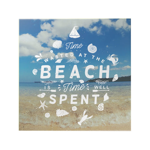 Time Wasted at the Beach Decoposter
