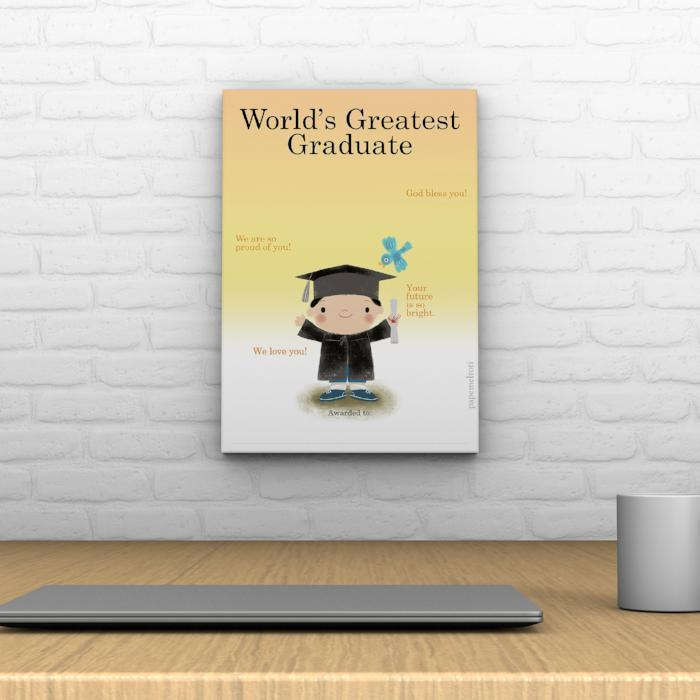 World's Greatest Graduate Decoposter: Male