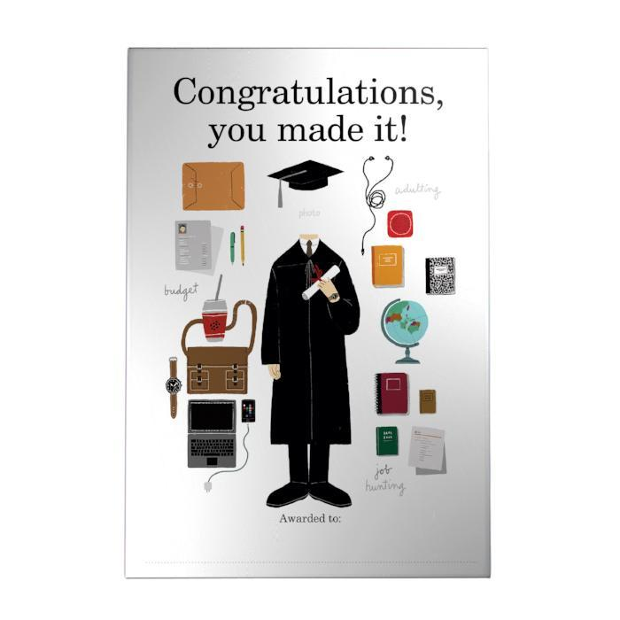 Congratulations, You Made It! Decoposter: Boy