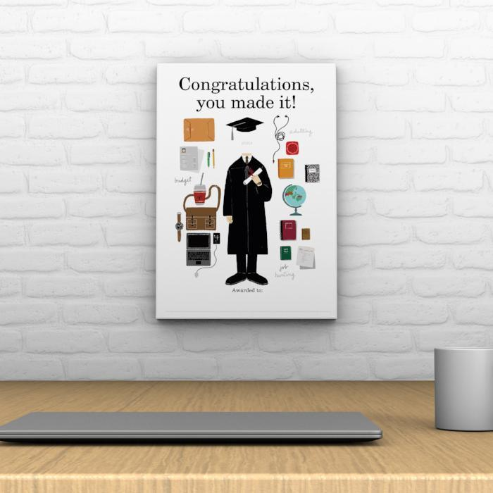Congratulations, You Made It! Decoposter: Male