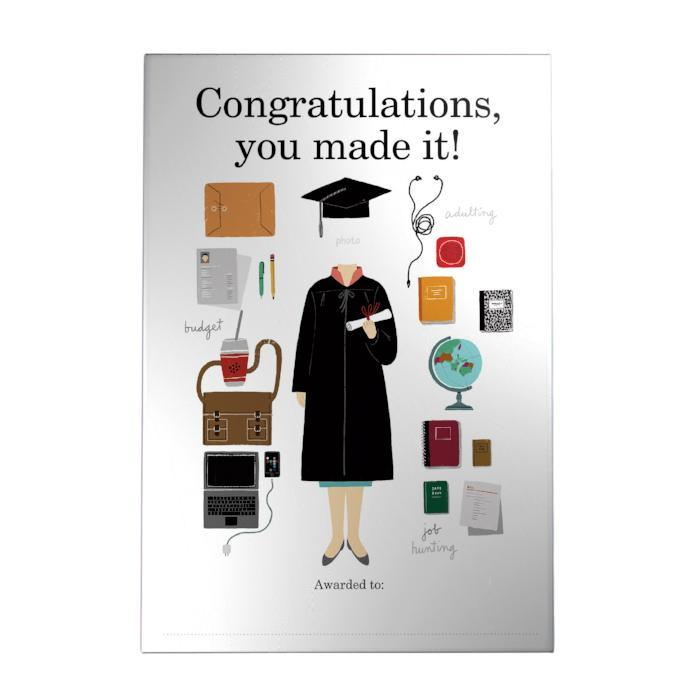 Congratulations, You Made It! Decoposter: Girl
