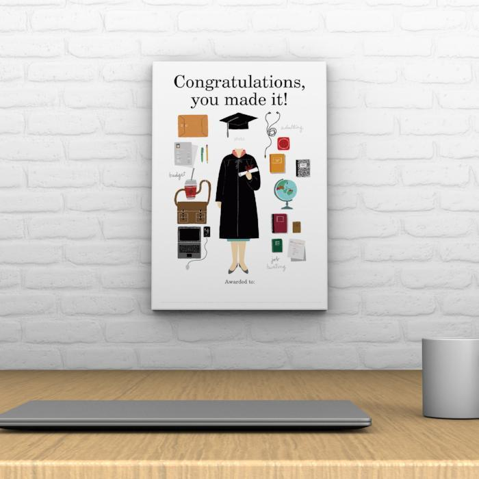 Congratulations, You Made It! Decoposter: Female