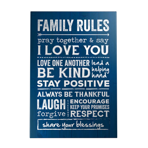 Family Rules Decoposter
