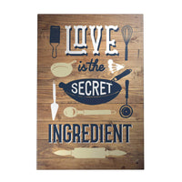 Happy Home Decoposter: Love Is the Secret Ingredient